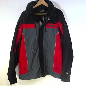 Men's Spyder ski snow winter jacket size Large